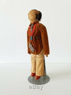Antique Amérindien Navajo Doll Fin Du 19ème Ou Au Début Du 20ème Siècle