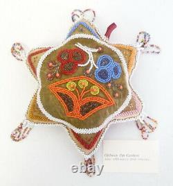 Antique Début Du 20e Siècle Amérindien Iroquois Mohawk Perlée Pin Cushion