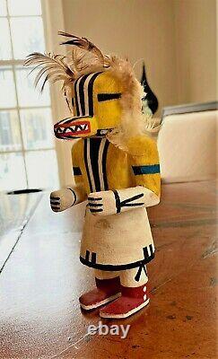 Antique Native American Hopi Rare Chipmunk Runner Katchina Doll Début Des Années 1900