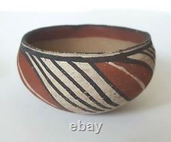 Antique Native American Isleta Pueblo Pottery Bol Au Début Des Années 1900