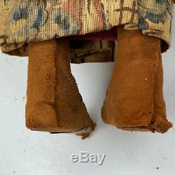 Antique Skookum Bully Bonne Squaw Papoose Doll Early Rare Regarder À Gauche Glancing