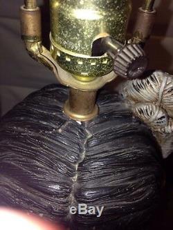 Apsit Bros 1974 Lampe Amérindien Rare Early Californie Poterie Chalkware