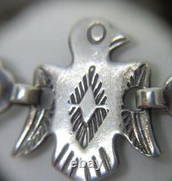 Au Début De Bell Trading En Argent Sterling Thunderbird D'eagle Entiers Bracelet Navajo