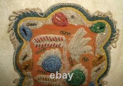 Au Début Des Années 1900, Réserve De Caughnawaga Iroquois (mohawk) Couverture Perlée