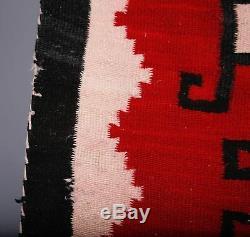 Au Début Tapis Navajo, Couverture Textile Amérindien, Tissage Peu Commun Unique Grand