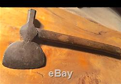 Authentique Ca. 1750 Native American Fin Sondage Tomahawk / Early Haft. Style Rare