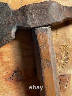Authentique Spike Tomahawk Amérindien Du Début Au Milieu Des Années 1800 Arme En Fer Forgé