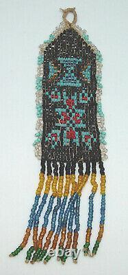 Belle Antique Début 1900 Perlée Regarder Sioux Native American Fob