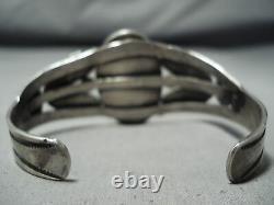 Bracelet En Argent Sterling Navajo Royston Turquoise Vintage