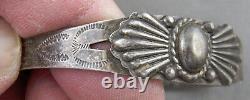 Bracelet Touristique Navajo Early Et Scarce Par Silver Arrow
