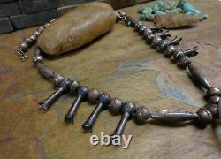 C'est Pas Vrai! Première Navajo Yei Kachina Sterling Squash Collier Native Old Pawn