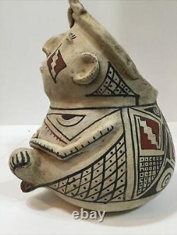Casas Amérindiens Antiques Rares. Grand Pottery Figural Pitcher Début Des Années 1900