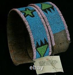 Ceinture Perlée Amérindienne Par Reuben Blackboy Blackfeet -début Du 20ème Siècle