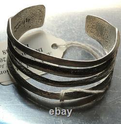 Charles Loloma Early Sterling Argent Bracelet Amérindien Indien Hopi