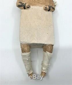 Début À La Main En Bois Sculpté Vintage Motif Main Amérindien Hopi Kachina