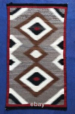 Début Antique Navajo Rug Ganado Diamond Native American C 1920 1930 69 X 39