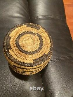 Début Des Années 1900, Native American Pima, Papago Basket 5 3/4 X 4 High
