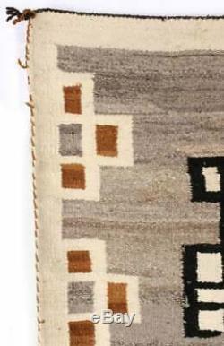 Début Du 20e Siècle Cristal Laine Tapis Amérindien Indien Navajo