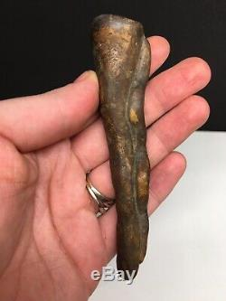 Début & Fine Mississippienne Serpent Effigie Pipe Artefact Amérindien