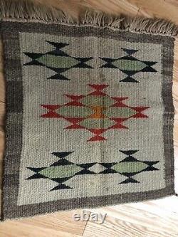 Début Navajo Amérindien Échantillonneur Couverture Tapis Tissage Nice