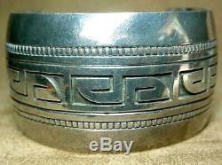 Début Old Pawn Classique Hopi Amérindien En Argent Sterling Bracelet Vague