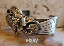 Début Vintage Dan Nieto Argent Sterling Sculptural Architectural Cuff Bracelet