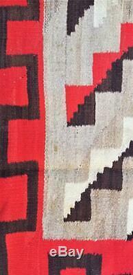 Début Zone Navajo Tapis Blanket Native American Textile Weaving Large 83 X 69