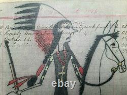 Dessin Original De Grand Livre D'école Indienne. Du Début Au Milieu Des Années 1900