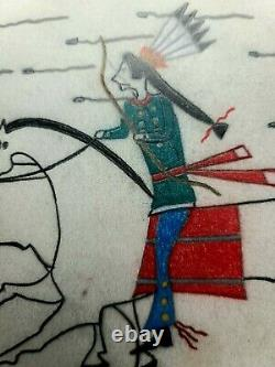 Dessin Original De Grand Livre D'école Indienne. Sioux. Début Des Années 1900