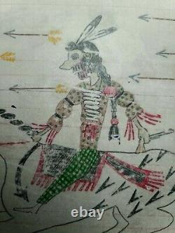Dessin Original De Grand Livre. Indien À Cheval. Début Des Années 1900