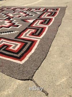 Early Antique Navajo Ganado Blanket Rug Native American C 1930 1935 58 X 59