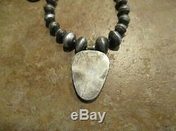 Early Hand Made Navajo Sterling Turquoise Buffalo Nickel Squash Collier Fleur