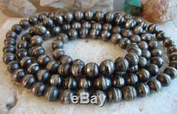 Early Navajo Argent Sterling 37 Handmade Navajo Perle Perle Collier De La Ca1920