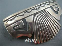 Early Navajo Signé Sterling Tommy Singer Hair Clip 3 Pouces 32 Grammes Rare