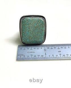 Early Navajo Turquoise Anneau, 17,4 Grammes De Pierre De Valeur Taille 10ish