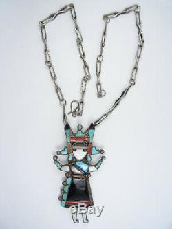 Early Zuni Canal Finest 40 Inlay Maiden Pendentif 22 Collier / 59g
