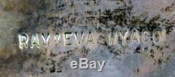 Fin Des Années 80 Des Années 1970-début Zuni Bolo Tie Grand Inlay Pygargue À Tête Blanche Par Ray & Eva Wyaco