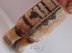 Fin Du 19ème Superbe / Début Du 20e Siècle Hopi Kachina Polychrome Pigments Antique