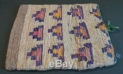 Grand Début 1900 Chaud Amérindien Ressorts Umatilla Corn Husk Sac