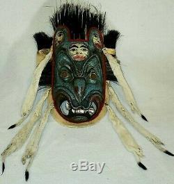 Haïda Ceramonial Danse Masque Début Des Années 1900. Pas Une Reproduction