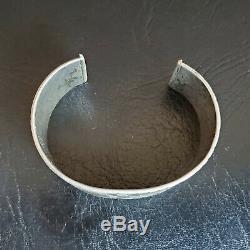 Important Début De La Première Phase Navajo Lingot Argent Bracelet Old Gage