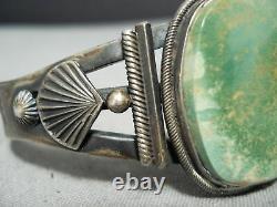 Important Early Steve Arviso Vintage Navajo Turquoise Sterling Silver Bracelet