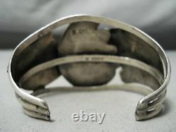 Important Premier Chee Vintage Navajo Turquoise Bracelet En Argent Sterling