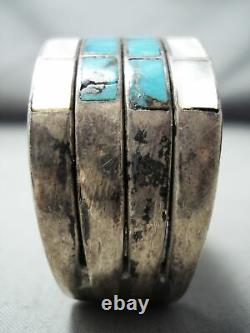 L'un Des Meilleurs Bracelet En Argent Sterling Zuni Turquoise Vintage De Petite Taille