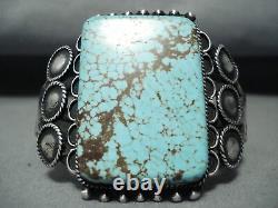 L'un Des Meilleurs Navajos Vintage #8 Bracelet Turquoise Early Sterling Silver