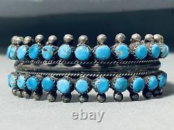 Musée Vintage Navajo Turquoise Sterling Bracelet En Argent