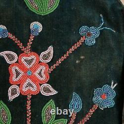 Native American Beaded Vest Cree/obijwe- Début Du 20e Siècle