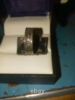 Navajo Jewely Early Silver And Turquoise Lovely Pawn Ring