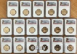 Ngc Ms67 2015-d Native American Sacagawea Dollar $1 Premières Diffusions 17 Coin Lot
