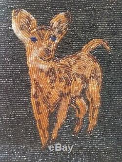 Perles Flatbag Bourse Des Pictoral Amérindien Cerf Perlage Nez Perce Début 1900